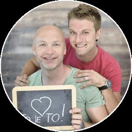 Nejc in Dejan - par - slušatelja delavnice partnerskega odnosa