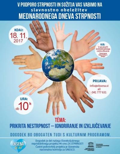 Obeležitev mednarodnega dneva strpnosti 2017 Izobraževalni center Šentjur Eksena