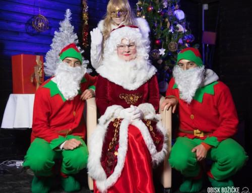 Obisk božičke in prižig lučk v pravljični Deželi Vile Eksene