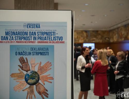 Otvoritev razstave mednarodni dan strpnosti – dan za strpnost in prijateljstvo v Državnem zboru Republike Slovenije